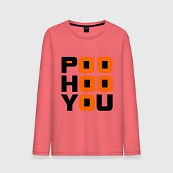 Лонгслив хлопковый мужской Poo hoo you цвета коралловый — фото 1
