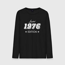 Лонгслив хлопковый мужской Limited Edition 1976 цвета черный — фото 1