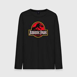 Лонгслив хлопковый мужской Jurassic Park цвета черный — фото 1