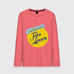 Лонгслив хлопковый мужской John Lennon: The Beatles цвета коралловый — фото 1