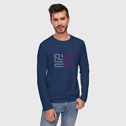 Лонгслив хлопковый мужской Introducing Zhu цвета тёмно-синий — фото 2