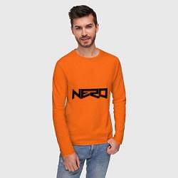 Лонгслив хлопковый мужской Nero цвета оранжевый — фото 2