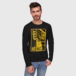 Лонгслив хлопковый мужской ASAP Rocky: Place Bell цвета черный — фото 2