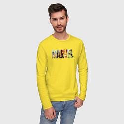 Лонгслив хлопковый мужской Marvel Comics цвета желтый — фото 2