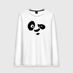 Лонгслив хлопковый мужской Панда цвета белый — фото 1