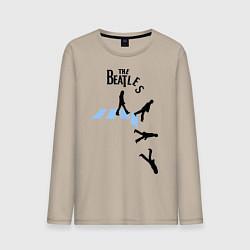 Лонгслив хлопковый мужской The Beatles: break down цвета миндальный — фото 1