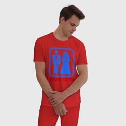Пижама хлопковая мужская Game over цвета красный — фото 2