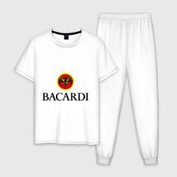 Пижама хлопковая мужская Bacardi цвета белый — фото 1