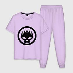 Пижама хлопковая мужская The Offspring: Sybmol цвета лаванда — фото 1