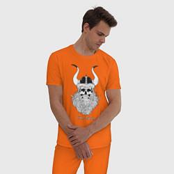 Пижама хлопковая мужская Old Viking цвета оранжевый — фото 2