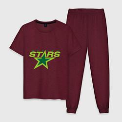Пижама хлопковая мужская Dallas Stars цвета меланж-бордовый — фото 1