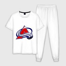 Пижама хлопковая мужская Colorado Avelanche цвета белый — фото 1