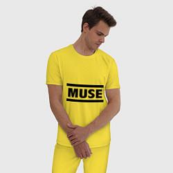 Пижама хлопковая мужская Muse цвета желтый — фото 2