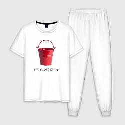 Пижама хлопковая мужская LOUS VEDRON цвета белый — фото 1