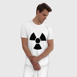 Пижама хлопковая мужская Радиоактивный цвета белый — фото 2