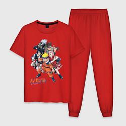 Пижама хлопковая мужская Naruto цвета красный — фото 1