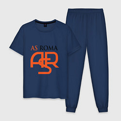 Пижама хлопковая мужская Roma ASR цвета тёмно-синий — фото 1