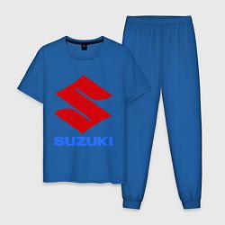 Пижама хлопковая мужская Suzuki цвета синий — фото 1