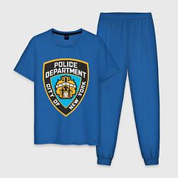 Пижама хлопковая мужская N.Y.P.D цвета синий — фото 1