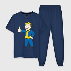 Пижама хлопковая мужская Fallout Boy цвета тёмно-синий — фото 1