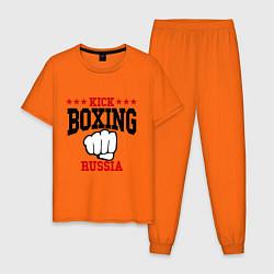 Пижама хлопковая мужская Kickboxing Russia цвета оранжевый — фото 1