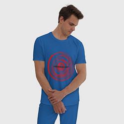 Пижама хлопковая мужская Pendulum цвета синий — фото 2