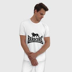 Пижама хлопковая мужская Hardcore цвета белый — фото 2