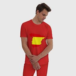 Пижама хлопковая мужская Испания (Spain) цвета красный — фото 2
