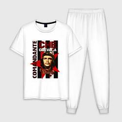 Пижама хлопковая мужская Comandante цвета белый — фото 1