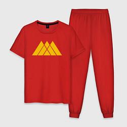 Пижама хлопковая мужская Warlock Symbol цвета красный — фото 1