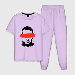 Пижама хлопковая мужская Chester Creative цвета лаванда — фото 1