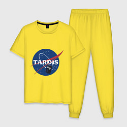 Пижама хлопковая мужская Tardis NASA цвета желтый — фото 1
