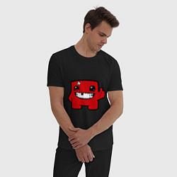 Пижама хлопковая мужская Super Meat Boy цвета черный — фото 2