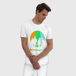 Пижама хлопковая мужская Imagine Dragons: Evolve цвета белый — фото 2