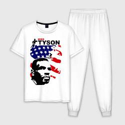 Пижама хлопковая мужская Mike Tyson: USA Boxing цвета белый — фото 1