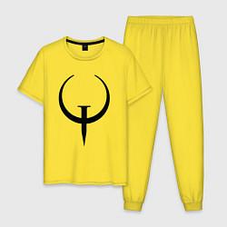 Пижама хлопковая мужская Quake champions цвета желтый — фото 1