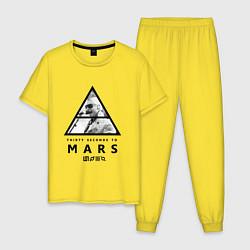 Пижама хлопковая мужская Thirty Seconds to Mars цвета желтый — фото 1
