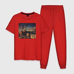Пижама хлопковая мужская Pink Floyd: Animals цвета красный — фото 1