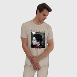 Пижама хлопковая мужская Thomas Mraz цвета миндальный — фото 2