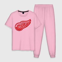 Пижама хлопковая мужская Detroit Red Wings: Pavel Datsyuk цвета светло-розовый — фото 1