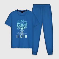 Пижама хлопковая мужская Muse цвета синий — фото 1