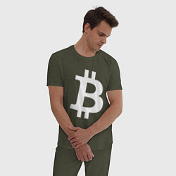 Пижама хлопковая мужская BTC Symbol цвета меланж-хаки — фото 2
