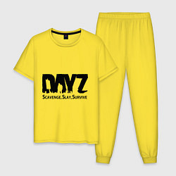 Пижама хлопковая мужская DayZ: Slay Survive цвета желтый — фото 1
