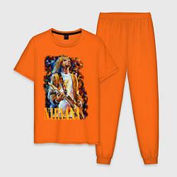 Пижама хлопковая мужская Cobain Art цвета оранжевый — фото 1