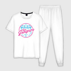 Пижама хлопковая мужская San Junipero 1987 цвета белый — фото 1