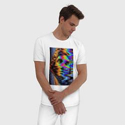 Пижама хлопковая мужская VHS David цвета белый — фото 2
