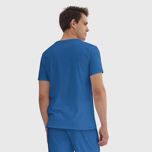 Мужская пижама Отбросы-скелеты / Синий – фото 4