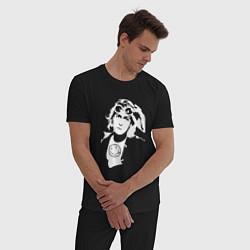 Пижама хлопковая мужская Kurt Cobain цвета черный — фото 2
