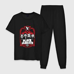 Пижама хлопковая мужская Black Sabbath Collective цвета черный — фото 1