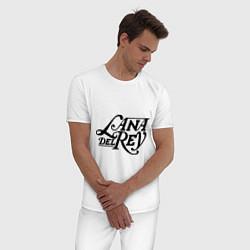 Пижама хлопковая мужская Lana Del Rey цвета белый — фото 2